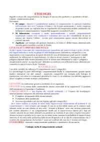 Appunti di Etologia generale