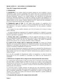 Segundo Cuatrimestre Mercantil II. Evaluación tradicional. Año 2013