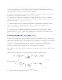 Notes sur les vérifications expérimentales - 1° partie