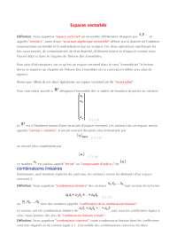 Notes sur les espaces vectoriels - 1° partie