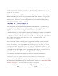 Notes sur la théorie de l'offre et de la demande - 1° partie