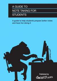 A Guide to Note Taking for Students - eBook by Docsity
