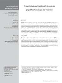 Frênulo lingual modificações após frenectomia, Notas de estudo de Fonoaudiologia