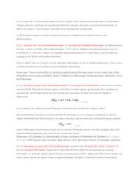 Notes sur les principes de la thermodynamique