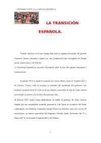 Trabajo de la Transicion Española
