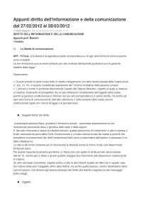 Appunti diritto dell'informazione e della comunicazione