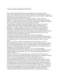 Notes sur les principes généraux de droit administratif - 1° partie, Notes de Droit Administratif