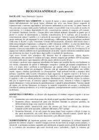 appunti biologia animale, parte generale