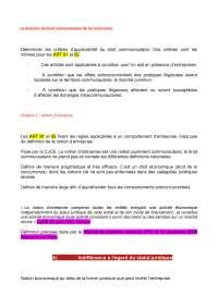 Notes sur le domaine du droit communautaire de la concurrence