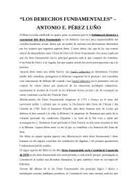"""""""Los derechos fundamentales - A. Pérez Luño"""" Resum"""