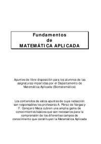Apuntes Biomatemáticas 1º Licenciatura en Biología