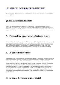 Notes sur les sources externes du droit public
