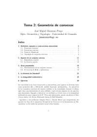 Taller de Geometria de Convexos