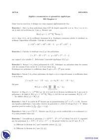 Exercices de algèbre commutative et géométrie algébrique