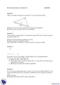 Exercices de mathématique