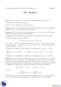 Exerccies de géométrie algébrique