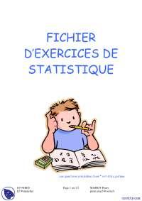 Fichier d'exercices de statistique
