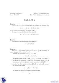Exercices sur la théorie algébrique des nombres, Exercices de Mathématiques Appliquées