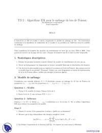 Exercices sur les principes de statistique et d'économétrie