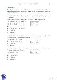 Exercices récapitulatifs de probabilités discrètes - 2° partie