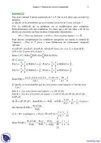 Exercices récapitulatifs de probabilités discrètes - 3° partie, Exercices de Mathématiques Appliquées