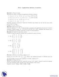 Exercices sur les applications linéaires et matrices, Exercices de Mathématiques