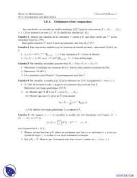 Exercices de statistique mathématique, Exercices de Mathématiques Appliquées
