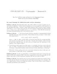 Block Ciphers - Introduction to Cryptography - Homework