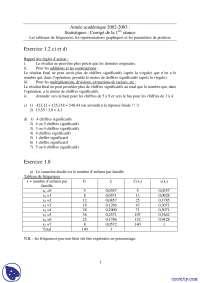 Exercices de mathématiques sur les statistiques