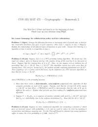 Functions - Introduction to Cryptography - Homework