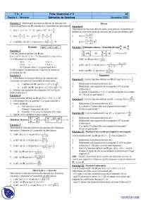 Exercices sur la dérivation de fonctions, Exercices de Méthodes Mathématiques