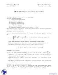 Exercices sur les statistiques exhaustives et complètes