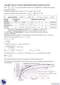 Exercices de chimie et spéléologie