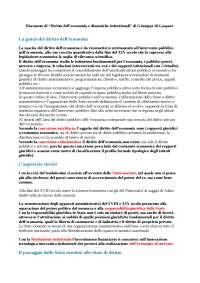 Riassunto di diritto dell economia e dinamiche costituzionali Giuseppe Di Gaspare