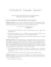 Expansion Function - Introduction to Cryptography - Homework