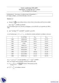 Exercices de statistiques, Exercices de Méthodes Mathématiques