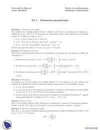 Exercices sur l'estimation paramétrique, Exercices de Méthodes Mathématiques