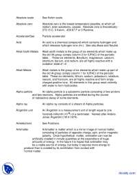 Chemistry Glossary - Forensic Sciences - Lecture Notes