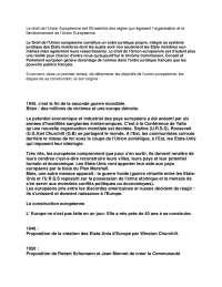 Notes sur le droit de l'union européenne - 1° partie