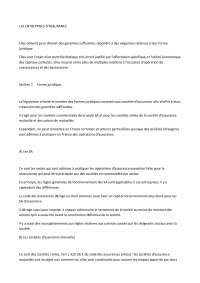 Notes sur les entreprises d'assurance