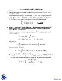 Efficiency - Alternative Energy Engineering - Solved Homework