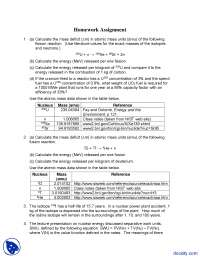 Atomic Mass - Alternative Energy Engineering - Homework