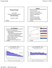 Energy Storage - Alternative Energy Engineering - Lecture Slides