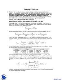 Fly Wheel - Alternative Energy Engineering - Solved Homework