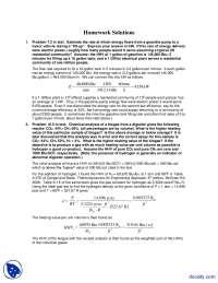Energy Flows - Alternative Energy Engineering - Solved Homework
