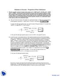 Properties of Pure Substances - Thermodynamics - Solved Excercise
