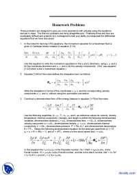Differential Equation - Computational Fluid Dynamics - Solved Homework
