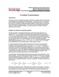 Coordinate Transformations - Computational Fluid Dynamics - Lecture Notes