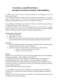 Notes sur l'économie : « conseiller du Prince » Emergence de la macro-économie : le Mercantilisme
