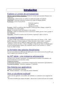 Notes complètes sur la psychologie générale - 1° partie